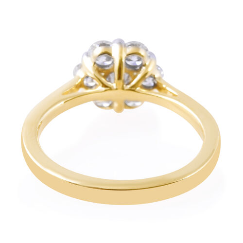 Limited Edition- 9K Yellow Gold SGL Certified Pressure-Set Diamond (Rnd) (I3/G-H) Ring 0.500 Ct.