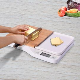 Electronic Cutting Board with Scale (Size30x20.5x3.45cm) - 2AAA Battery Not Included