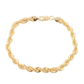 Vicenza Collection 7.5 Inch Rope Bracelet in 9K Gold 3.76 Grams