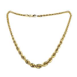 JCK Vegas Collection - 9K Yellow Gold Rope Graduated Bracelet (Size 8.5), Gold wt 4.80 Gms.