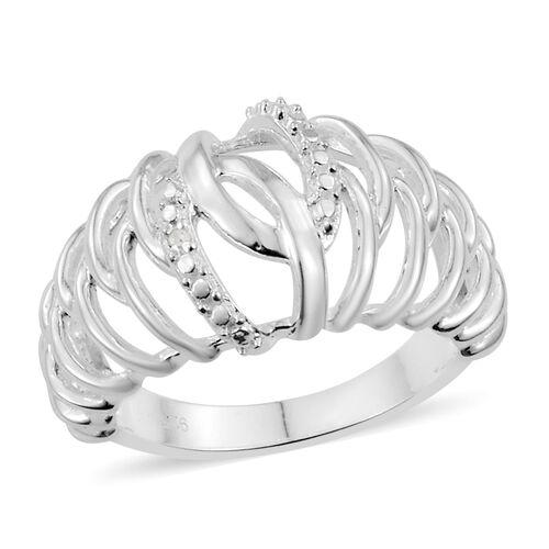 Designer Inspired Diamond Ring in Sterling Silver 4.12 Grams
