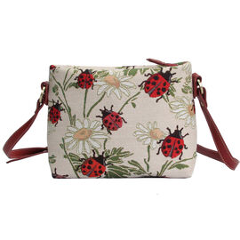 SIGNARE - Tapestry Collection - Ladybird Cross Body Bag ( 28 x 18 x 8 Cms)