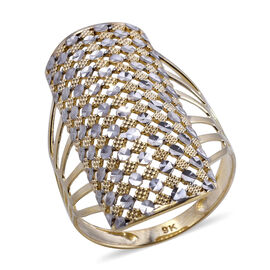 Royal Bali Collection - 9K Yellow and White Gold Ring