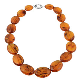 Baltic Amber Necklace (Size 24) in Sterling Silver