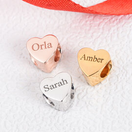 Personalise Engraved Heart Charm