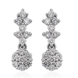 RHAPSODY 950 Platinum IGI Certified Diamond (VS/E-F) Floral Earrings 0.50 Ct.