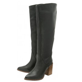 Ravel Lumsden Knee-High Leather Boots  Black