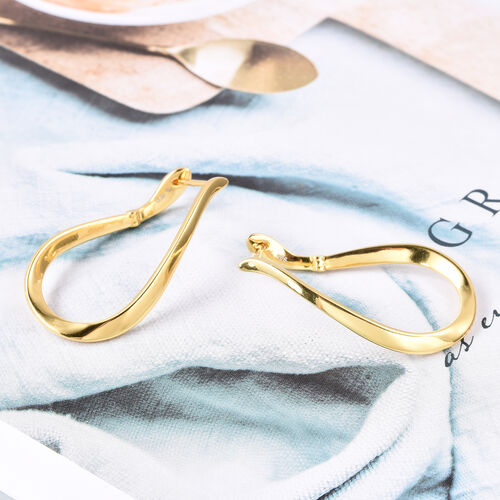 LucyQ Melting Drops Hoop Earrings in Yellow Gold Plated Sterling Silver