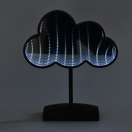Cloud Shaped LED Tunnel Light (Size 29x15 Cm) - Black (4xAA Battery not Included)