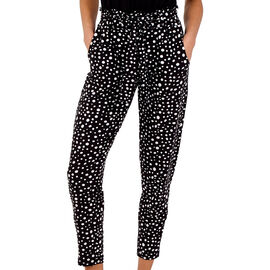 NOVA of London - Raindrop Print Soft Touch Joggers in Black