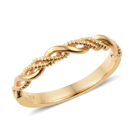 WEBEX- Band Ring in 14K Gold Overlay Sterling Silver