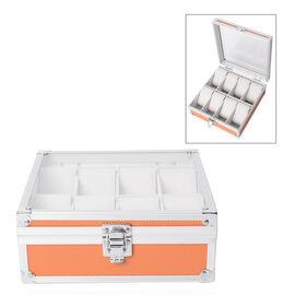 Aluminium 8 Slot Watch Box (Size 21.5x20x8 Cm) - Coral