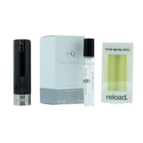Reload Mini Perfume Spray Black (Incl. Mercedes Club Mini Men - 5ml & Aluminium Yellow)