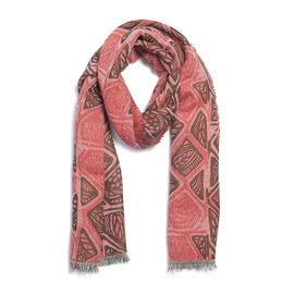 Designer Inspired- Red  Colour Lurex Shawl (Size 185x70 Cm)