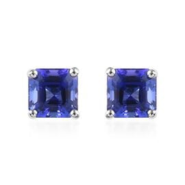 RHAPSODY 2.70 Ct AAAA Tanzanite Stud Solitaire Earrings in 950 Platinum