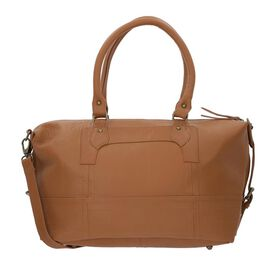 100% Genuine Leather Luggage Duffle Bag with Detachable and Adjustable Shoulder Strap (Size 38x31x17