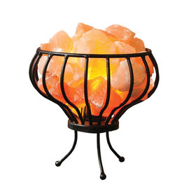 Himalayan Salt Crystal Chunks Lamp With Metal Basket (Size 18x7 Cm) (Including E14/220V/15W Bulb)
