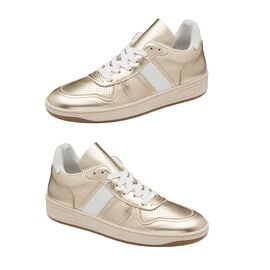 Ravel Coen Leather Trainers in Champagne Colour