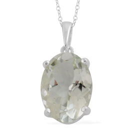 Prasiolite (Oval) Pendant With Chain (Size 18) in Sterling Silver 5.13 Ct.