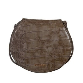 Bulaggi Collection Iris Croco Crossbody Bag - Taupe