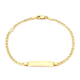 Hatton Garden Close Out Deal 9K Yellow Gold Rambo Adjustable Bracelet (Size 7)