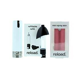 Reload Mini Perfume Spray - White, Reload Refillable Refill & Mini Spray Aluminium Red