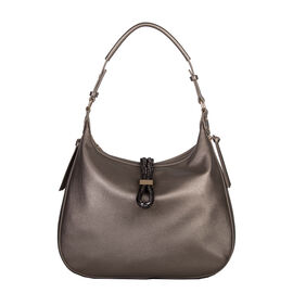 Bulaggi Collection - Bibis Hobo Bag (Size 37x30x10 Cm) - Pewter
