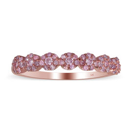 9K Rose Gold Natural Pink Diamond Ring 0.33 Ct.