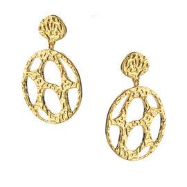 RACHEL GALLEY 14K Gold Overlay Sterling Silver Molten Drop Earrings, Silver wt 5.24 Gms.
