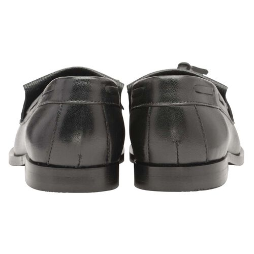 Ravel Black Croc Leather Low Heel Loafers (Size 5)