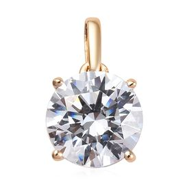 J Francis - 9K Yellow Gold (Rnd 7 mm) Solitaire Pendant Made with SWAROVSKI ZIRCONIA 1.28 Ct.