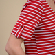 VISCOSE Womens Stripe Jersey Scoop Neck Tee Top (Size 18) - Red and White