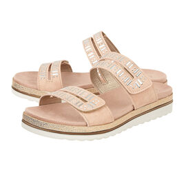 Lotus Halley Flat Mule Sandals in Pink Colour