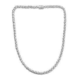 SPIGA Chain Necklace with Magnetic Lock in Silver 62.37 Grams 20 Inch
