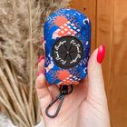 Pet Pooch Boutique-Ocean & Tan Poo Bag Holder (Size 8x5x5 cm)- Multi