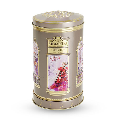 AHMAD TEA Earl GreyTea with Musical Tea Caddy (100 Gms of Loose Tea)