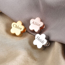Personalise Engraved Floral Charm