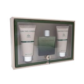 Racing Green: EDT - 100ml, Shower Gel - 150ml & Body Lotion - 150ml