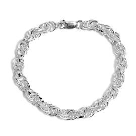 Artisan Crafted Sterling Silver Prince of Wales Design Bracelet (Size 7.5), Silver wt 14.50 Gms