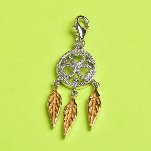 Charms De Memoire Platinum and Yellow Gold Overlay Sterling Silver Dreamcatcher Charm