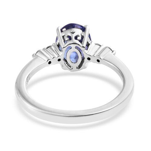 ILIANA 18K White Gold 1.95 Ct AAA Tanzanite and Diamond SI G-H Ring