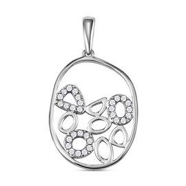 RACHEL GALLEY Versa Collection- 950 Platinum IGI Certified White Diamond (VS/E-F) Pendant 0.25 Ct.