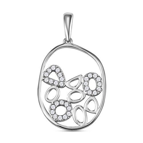 RACHEL GALLEY 950 Platinum IGI Certified White Diamond (VS/E-F) Pendant 0.25 Ct.