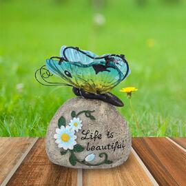 Garden Decorative Buttery Resin Solar Lamp (Size:16x10x20Cm) - Multi