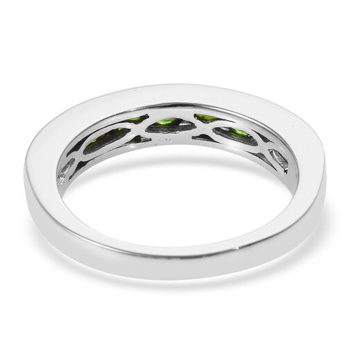 RHAPSODY 950 Platinum Russian Diopside (Rnd) Half Eternity Band Ring 1.150 Ct.