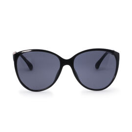 Designer Inspired Unisex Sunglasses - Black Round