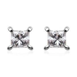 RHAPSODY 950 Platinum SGL Certified Diamond (VS/E-F) Stud Earrings (with Screw Back) 0.24 Ct.