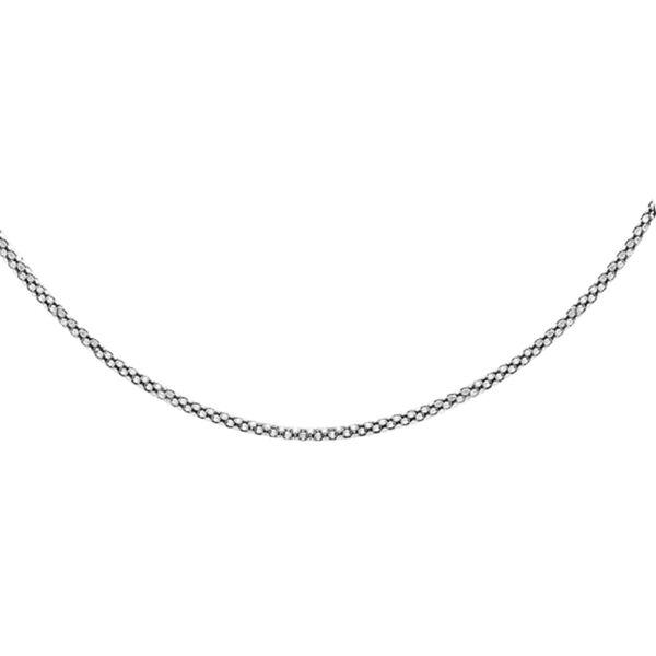 Popcorn Chain Bracelet in Sterling Silver 2.50 Grams 20 Inch