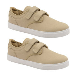 Gola Panama 2 Bar Wide Fit Trainer in Taupe and White Colour