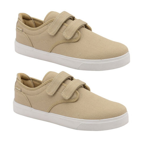 Gola Panama 2 Bar Wide Fit Trainer (Size 7) - Taupe and White
